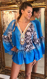 TEZ BLUE KAFTAN TOP