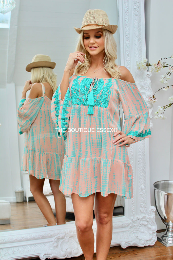 LIBBY PEACH KAFTAN TOP