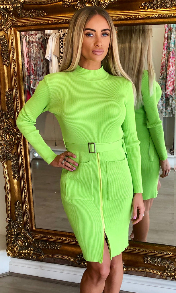 LENNI LIME DRESS