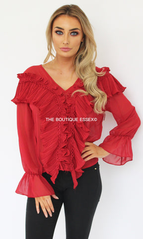 JOSEPHINE RED BLOUSE