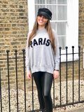 PARIS FINE KNIT GREY JUMPER