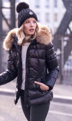 ROME BLACK FUR COLLAR JACKET