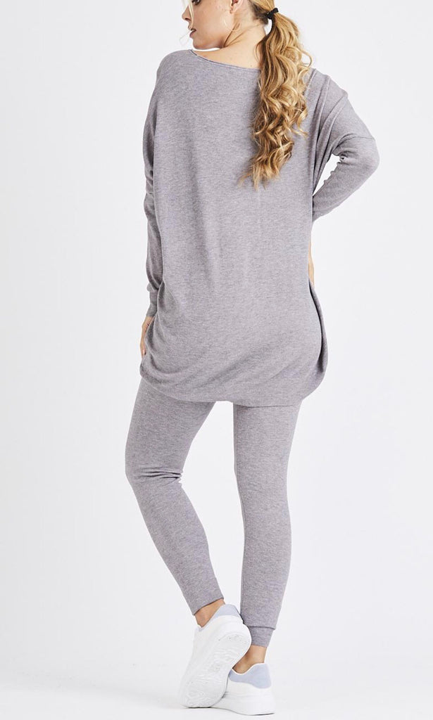 MADDY SOFT KNIT GREY 2 PIECE SET