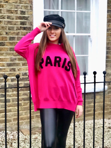 PARIS FINE KNIT PINK JUMPER