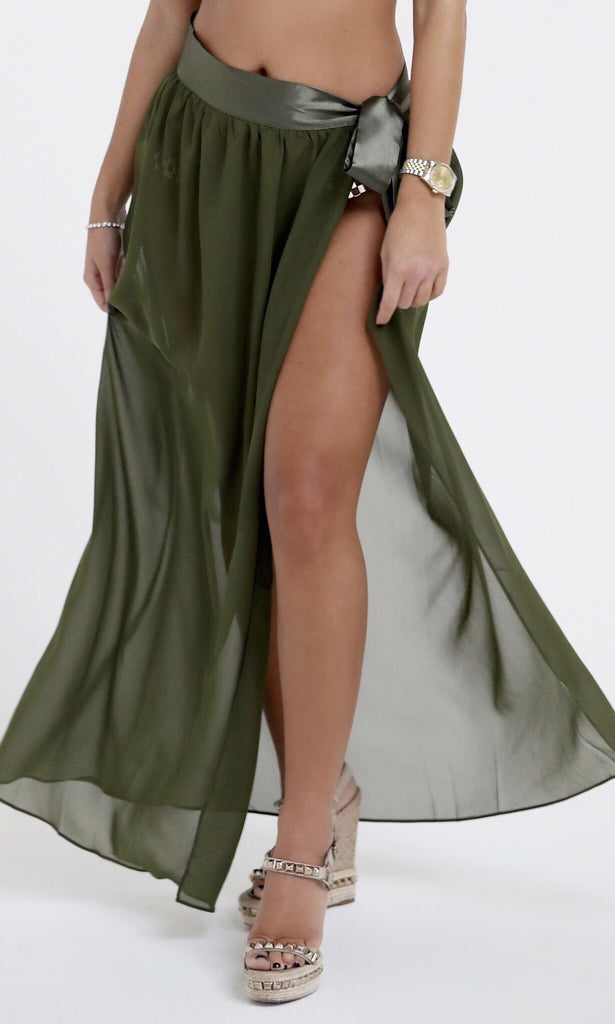 TILLY KHAKI BEACH SKIRT