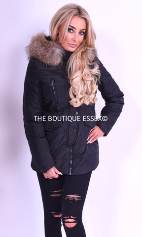 RUBY BLACK FUR JACKET
