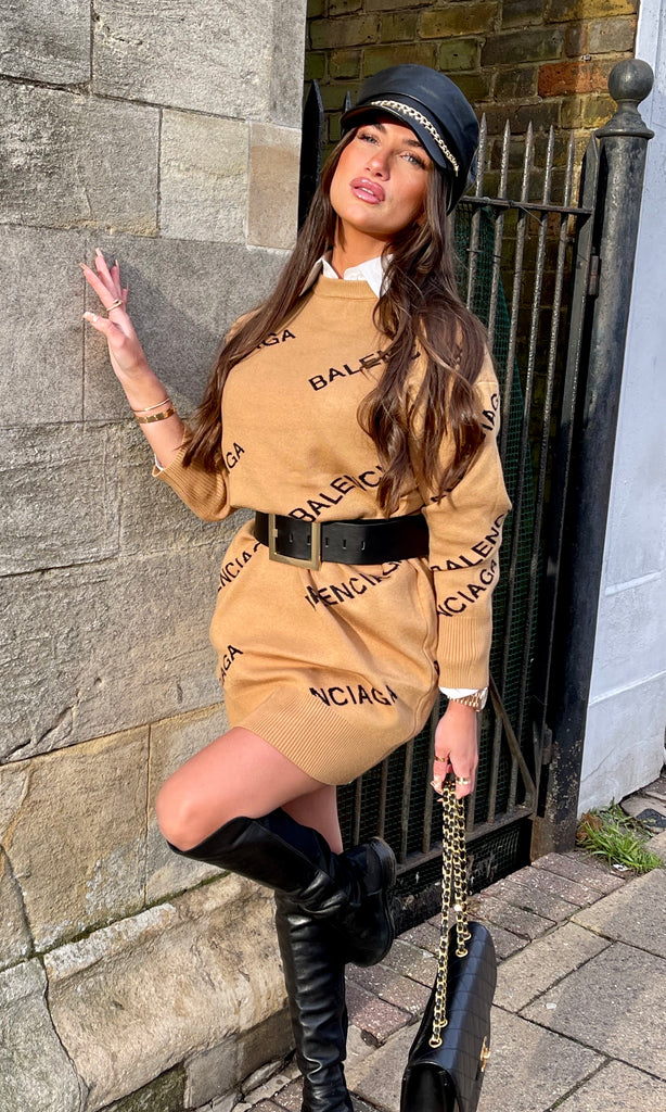 BB CAMEL JUMPER DRESS