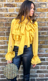 LAURIE MUSTARD BLOUSE
