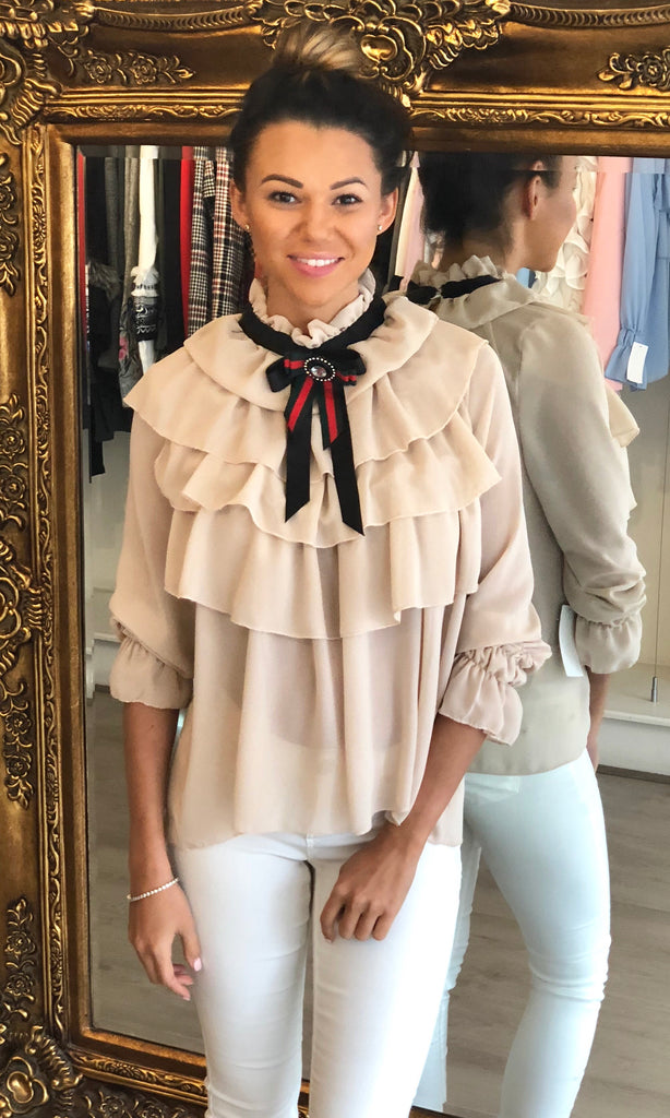 LUCINDA BIEGE LAYERED BLOUSE