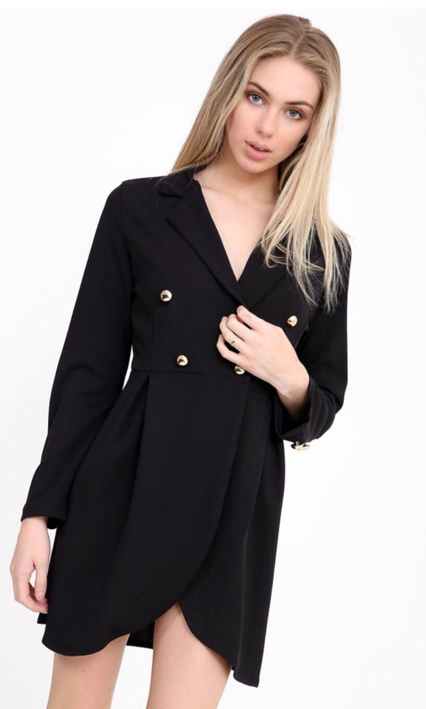 SAMMI BLACK BLAZER DRESS