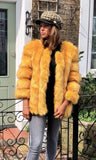 PATTI LUXURY MUSTARD FAUX FUR JACKET
