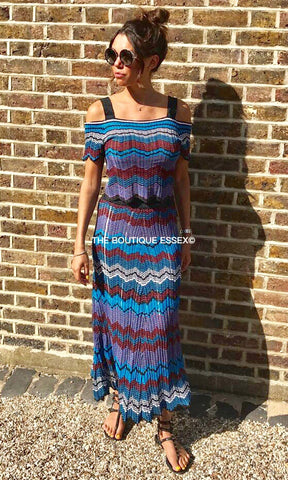 MARGO BLUE STRIPE 2 PIECE SET
