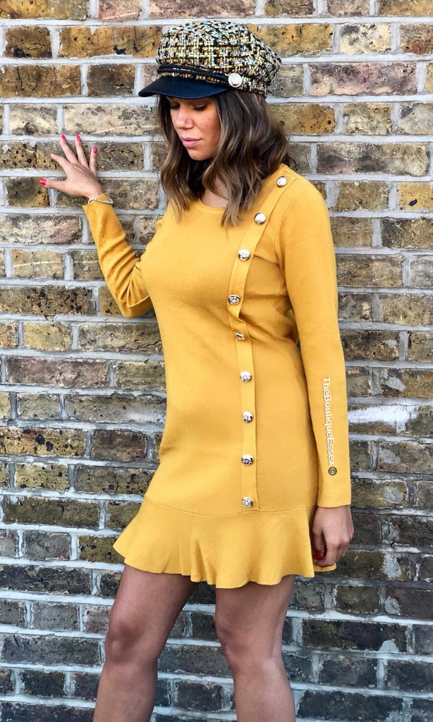 SAMMIE MUSTARD KNIT DRESS