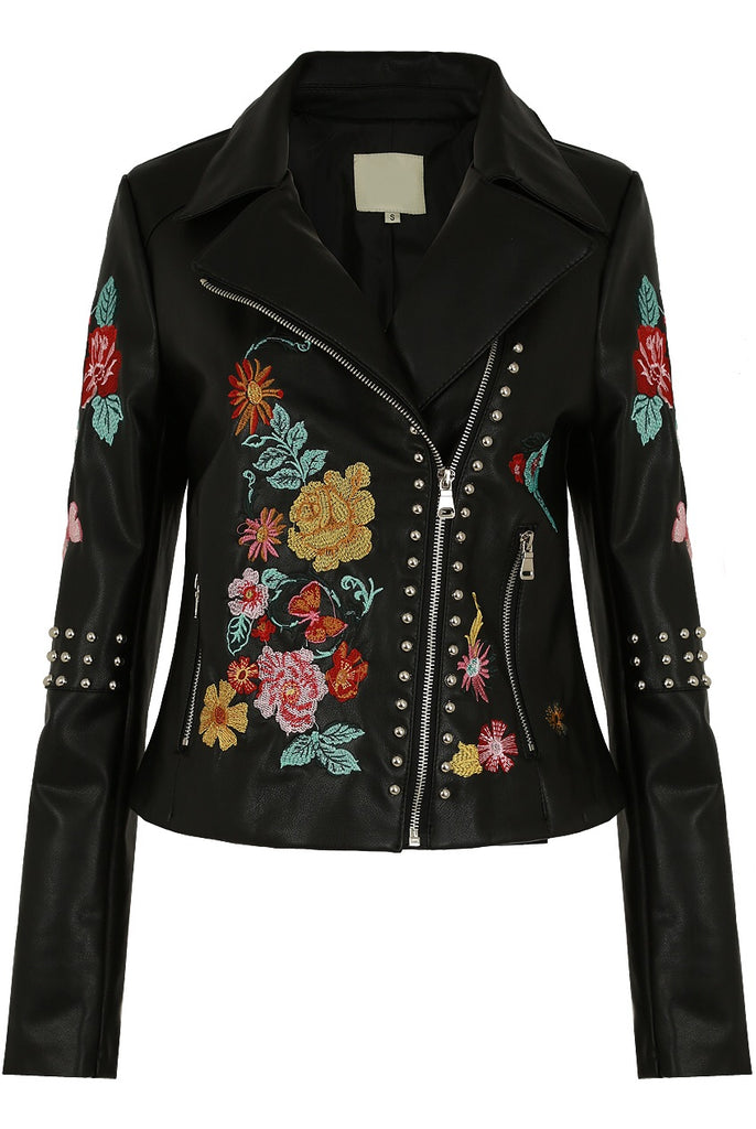 BETTY PU STUD JACKET