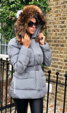 MORGAN GREY/NATURAL FUR JACKET