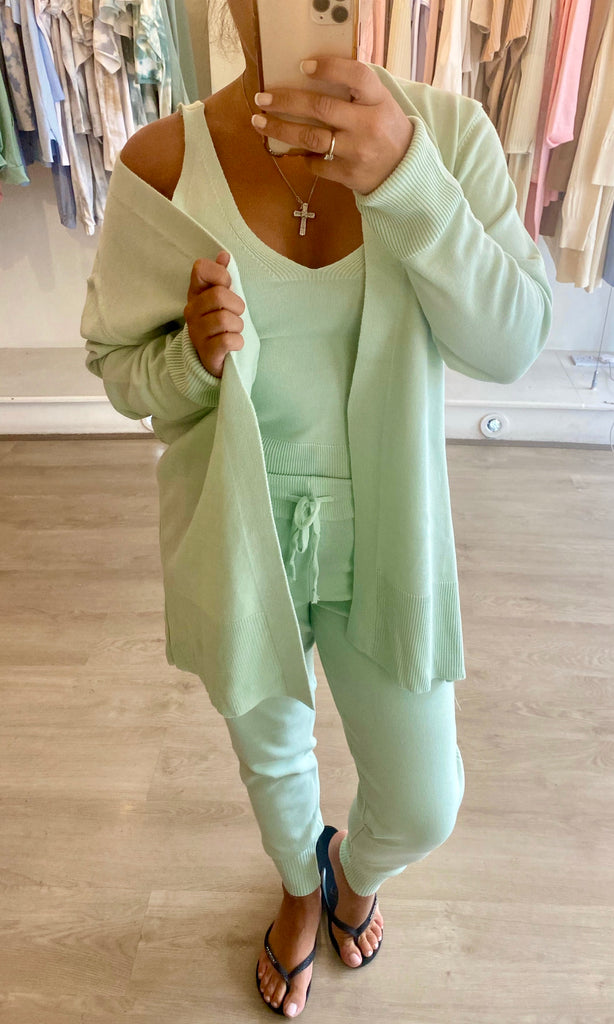 KHLOE MINT 3 PIECE LOUNGEWEAR SET