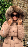 MORGAN BEIGE/NATURAL FUR JACKET