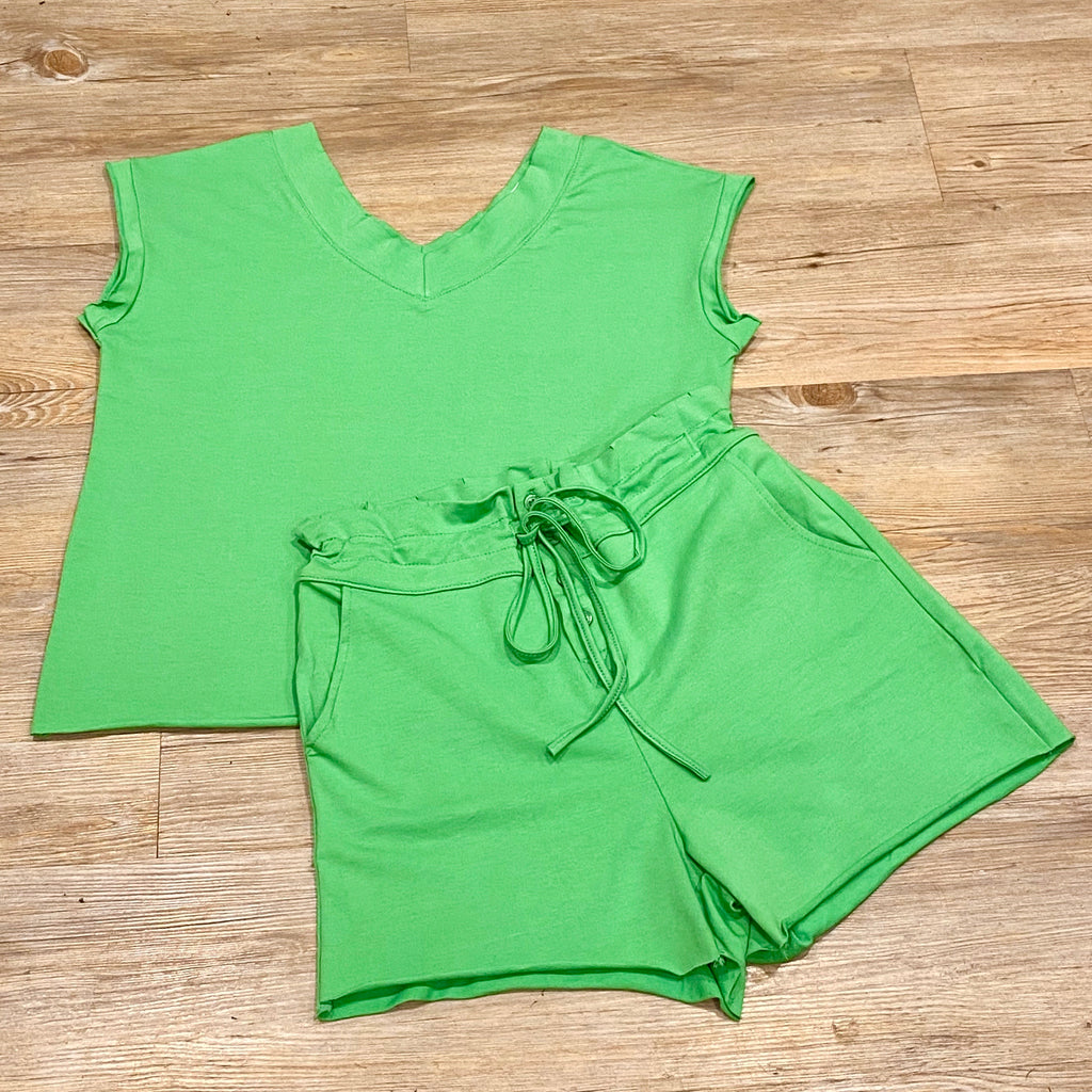 BAILEY BASIC GREEN SHORT SET