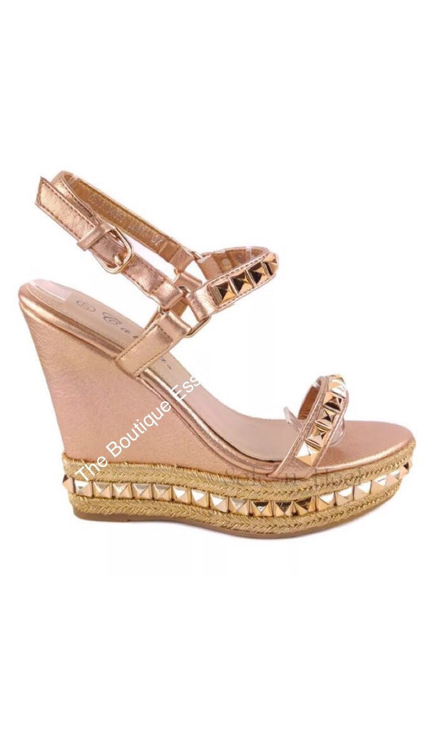 LUCHIA ROSE GOLD WEDGES