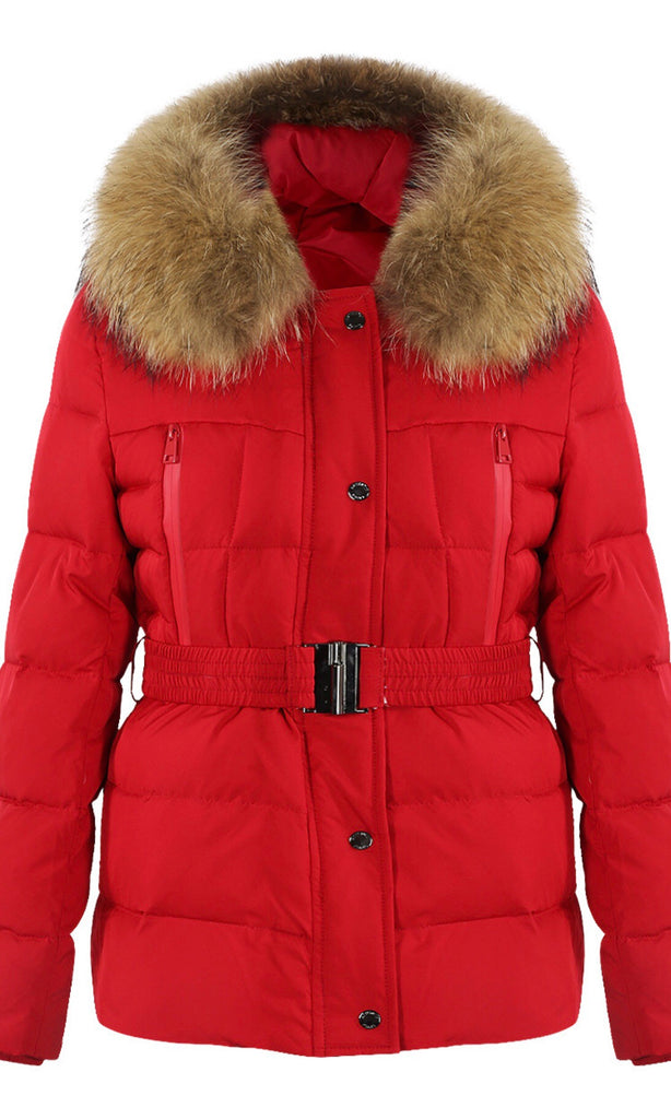 MILAN RED FUR JACKET