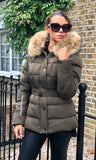 MILAN KHAKI/NATURAL FUR JACKET