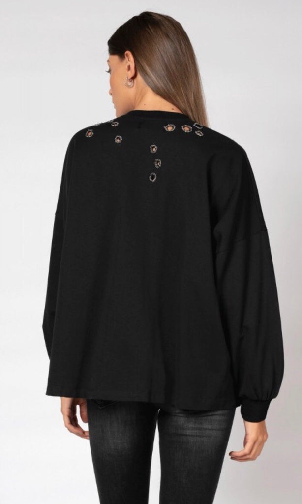 OPULENT BLACK SWEATSHIRT