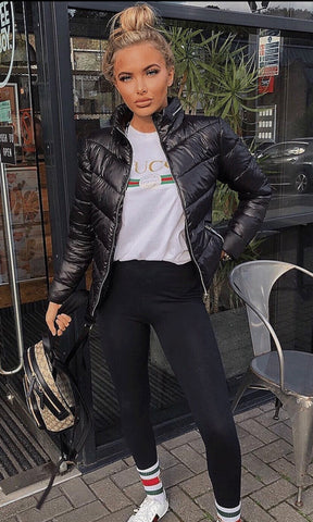 SHINE BLACK PUFFA JACKET