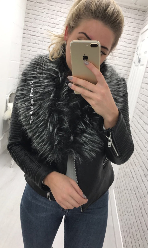 LOU GREY FAUX FUR STOLE