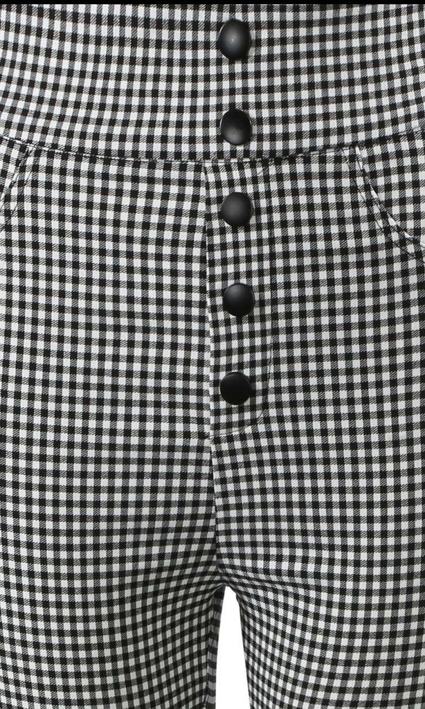 PIN CHECK HIGH WAIST TROUSER