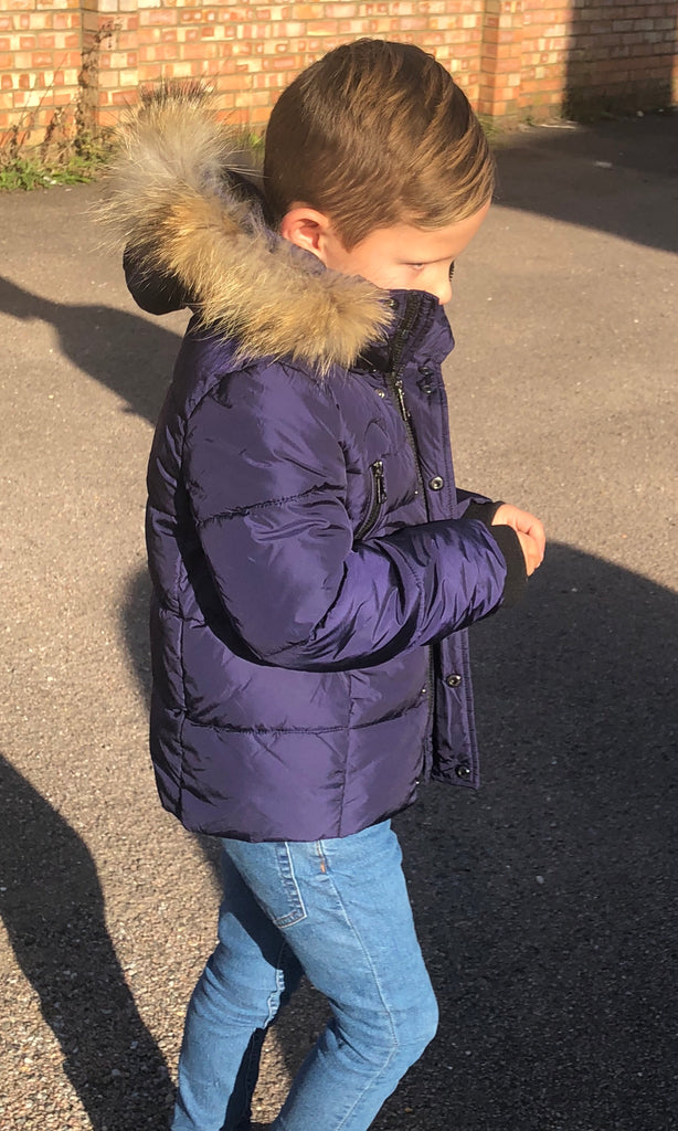 ENZO BOYS NAVY JACKET