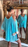 KITTY AQUA KAFTAN TOP