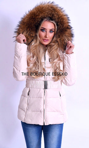 PARIS WINTER WHITE FUR JACKET