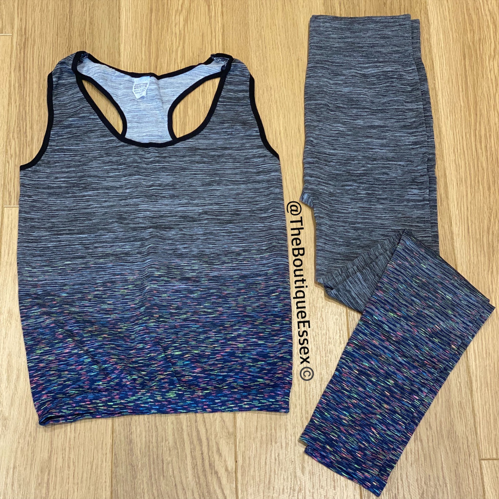 BIBA GREY/BLUE GYM SET