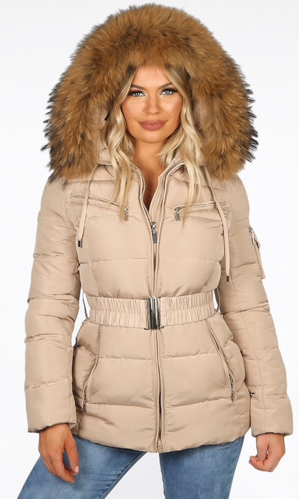 PARIS BIEGE QUILTED JACKET