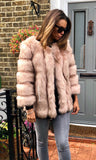 PATTI LUXURY PINK FAUX FUR JACKET