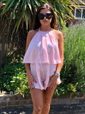 ISABELLA PINK PLAYSUIT
