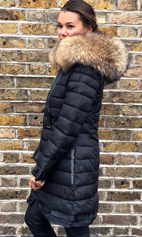 FLORENCE BLACK FUR JACKET