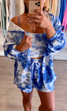 KIMMI BLUE TIE DYE 3 PIECE SET