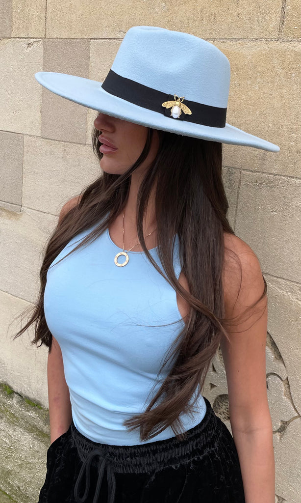 TILLY BLUE FEDORA HAT