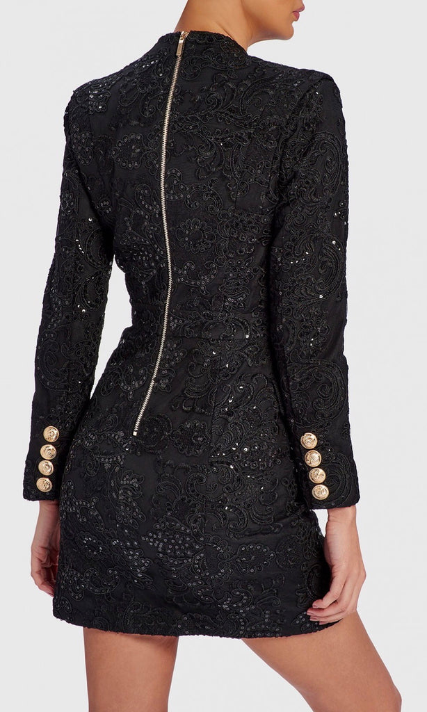 BLAKE BLACK DETAIL BLAZER DRESS