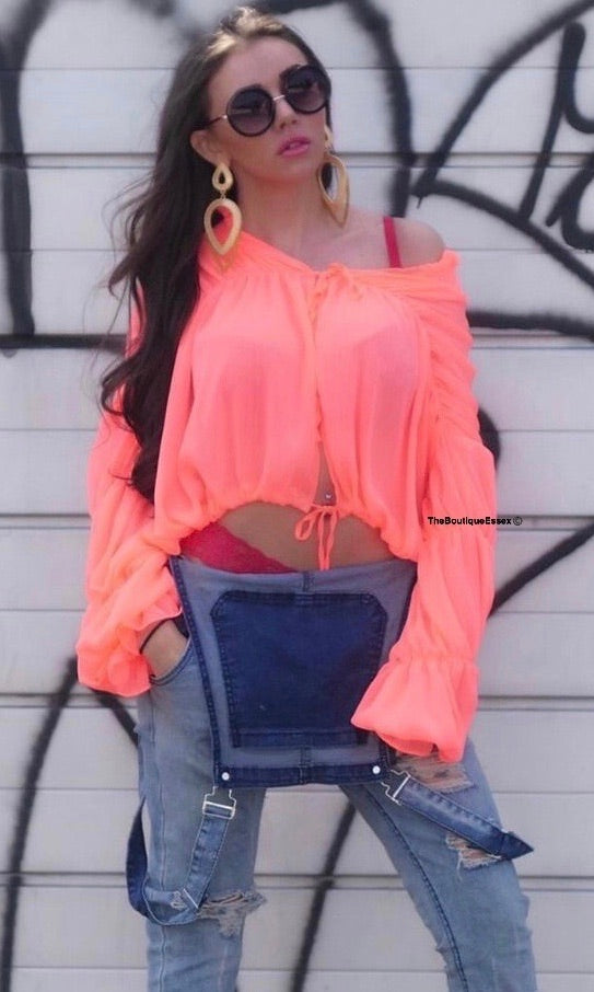 ZIGGY CORAL BLOUSE