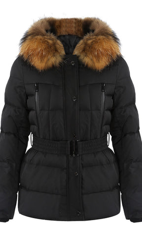 MILAN BLACK/NATURAL FUR JACKET