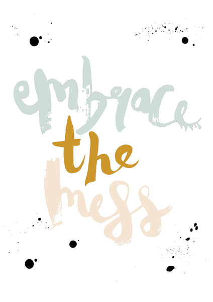 Embrace The Mess // Mustard,Oatmeal and Mint