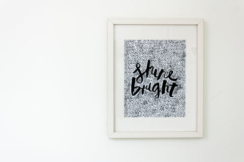 Shine Bright // Speckle Monochrome