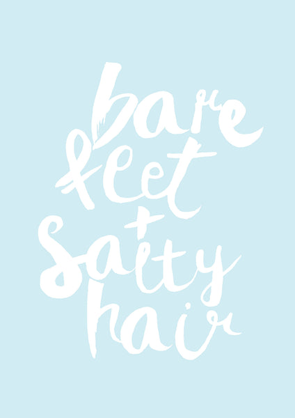 Bare Feet + Salty Hair // Seafoam Blue Print