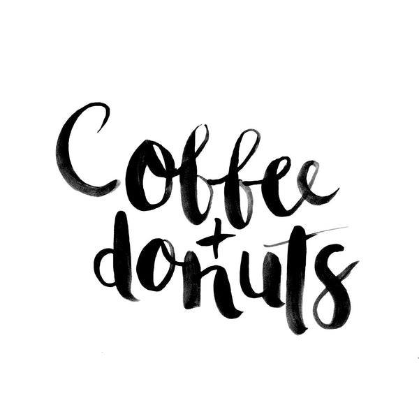 Coffee + Donuts // Monochrome Magic Print