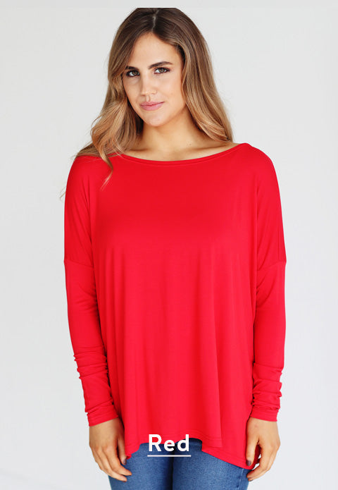 Red PIKO Tops
