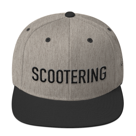 Scootering Snapback with Black Logo