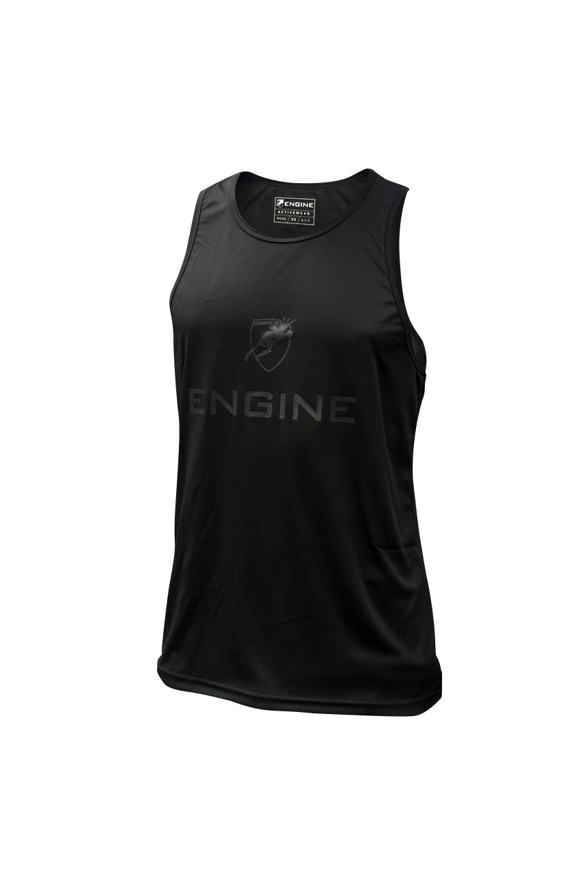 Mens Active Singlet - Black