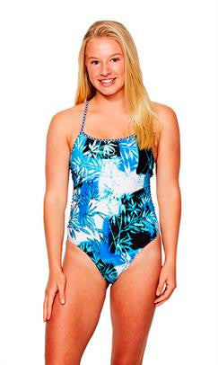 OHANA ADULTS KALINO - CROSS BACK TRAINING ONE PIECE (Blue)